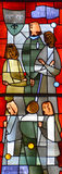 Fenêtre en verre teinté d'éloquence de St Joseph Image libre de droits