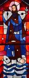 Fenêtre en verre teinté d'éloquence de St Joseph Photos libres de droits