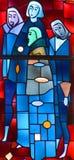 Fenêtre en verre teinté d'éloquence de St Joseph Photos stock