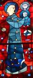 Fenêtre en verre teinté d'éloquence de St Joseph Images stock