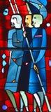Fenêtre en verre teinté d'éloquence de St Joseph Image stock