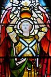 Fenêtre en verre teinté dans la cathédrale de Glasgow Image libre de droits