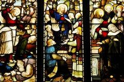 Fenêtre en verre teinté dans la cathédrale de Glasgow Photographie stock libre de droits