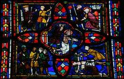 Fenêtre en verre teinté dans les visites Photos stock