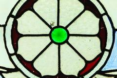 Fenêtre en verre teinté de forme de cercle Photos libres de droits