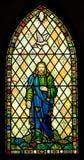 Fenêtre en verre teinté de trinité sainte photographie stock libre de droits