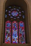 Fenêtre en verre teinté, l'éloquence de St Joseph de bâti royale, Montréal Images stock