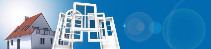 Fenêtre et remplacement de porte illustration de vecteur