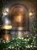 Fenêtre féerique de cottage Images libres de droits
