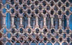 Fenêtre fabriquée à la main de fer d'Inde image libre de droits