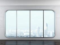 Fenêtre moderne de bureau Photos libres de droits