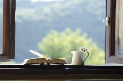 Fenêtre ouverte - fond d'eco, de nature ou d'éducation Images stock