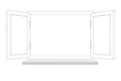 Hublot ouvert sur le fond d 39 isolement photo stock image for Fenetre ouverte dessin