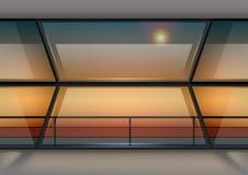 Fenêtre panoramique moderne illustration libre de droits