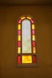 Fenêtre peinte d'église Images libres de droits