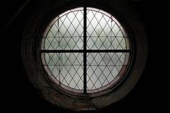 Fenêtre ronde dans Kutna Hora, République Tchèque Photographie stock libre de droits
