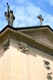 fenêtre rose Italie Lombardie la vieille église de jerago Photos libres de droits
