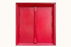 Fenêtre rouge d'isolement Image libre de droits
