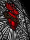Fenêtre sacrée de coeur de couleur sélective photographie stock libre de droits