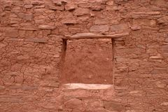Fenêtre stable, Abo Pueblo, Nouveau Mexique Image libre de droits