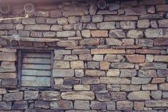 Fenêtre sur la brique Photo stock