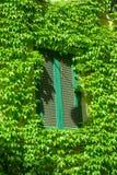 Fenêtre sur le vieux bâtiment à Rome Photographie stock libre de droits