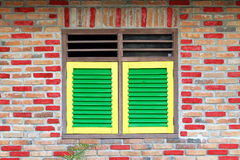 Fenêtre verte Photos stock