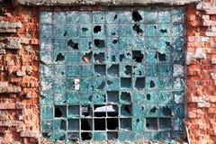 Fenêtres cassées Photos stock