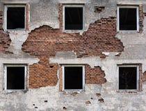 Fenêtres cassées Photographie stock libre de droits