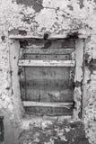 Fenêtres cassées par vintage Photos stock