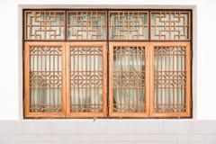 Fenêtres chinoises oranges Photos libres de droits