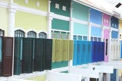Fenêtres colorées Photo stock