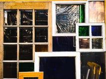 Fenêtres colorées Photographie stock libre de droits