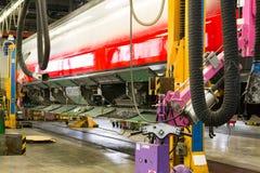 Fenêtres convenables sur le wagon ferroviaire images stock
