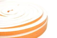 Fenêtres d'isolation de petit pain tordues par jaune Images libres de droits