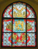Fenêtres de bâtiment de paysage Image libre de droits