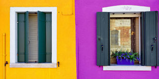 Fenêtres de Burano Image stock