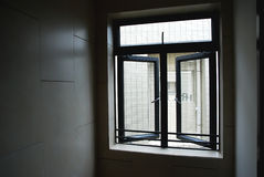 Fenêtres de couloir Images libres de droits