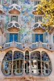 Fenêtres de fachade de Batllo de maison à Barcelone Photo stock