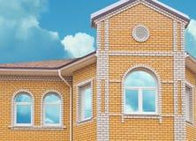 Fenêtres de maison de Dreame Images stock