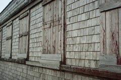 Fenêtres de maison de fumée Photographie stock libre de droits