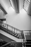 Fenêtres de musée Ludwig, d'escalier et de toit Photographie stock libre de droits