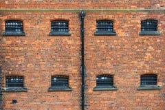 Fenêtres de prison de victorian de Lincoln Photo stock