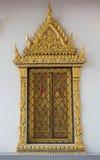 Fenêtres de temple de la Thaïlande, Bangkok Photos libres de droits