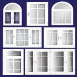 Fenêtres de vecteur Images stock