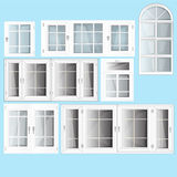 Fenêtres de vecteur Images libres de droits