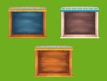Fenêtres en bois d'étagère de jeu réglées Photographie stock libre de droits