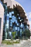 Fenêtres en verre abstraites de cube Images libres de droits