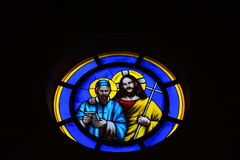 Fenêtres en verre teinté Images libres de droits