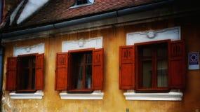 Fenêtres historiques Photos stock